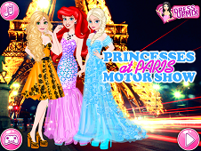 Princesses At Paris Motor Show