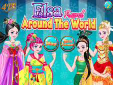 Elsa Travel Around The World