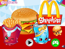 Shopkins Shoppies McDonalds Burger Cooking