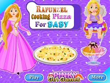 Rapunzel Cooking Pizza For Baby