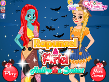 Rapunzel and Ariel Halloween Contest