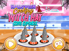 Halloween Cooking Witch Hat Cone Cupcakes
