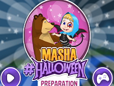 Masha Halloween Preparation