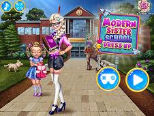 Modern Sister School Dressup