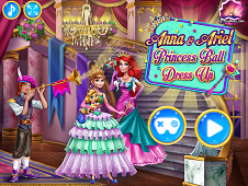 Anna And Ariel Dressup