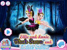 Ellie And Annie Black Swan And White Swan