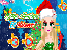 Glitter Christmas Elf Makeover