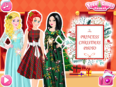 Princess Christmas Photo