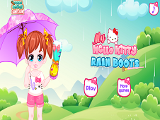 My Hello Kitty Rain Boots
