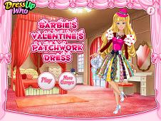 Barbie's Valentine's Patchwork Dress
