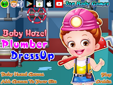 Baby Hazel Plumber Dress Up