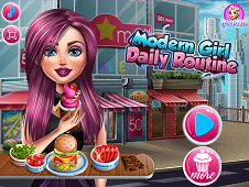 Modern Girl Daily Routine