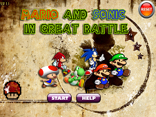 Mario and Sonic in Great Battle