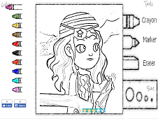 Ana the Pirate Coloring