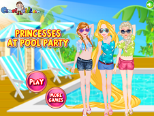 Princesses at Pool Party