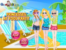 Princesses at Pool Party