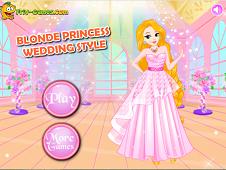 Blonde Princess Wedding Style