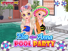 Elsa And Anna Pool Party