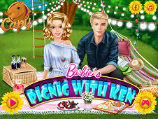 Barbies Picnic With Ken
