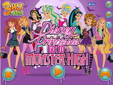 Disney Girls Go To Monster High