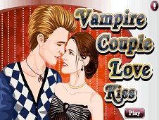 Vampire Couple Love Kiss