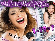 Violetta Math Quiz