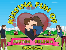 Kissing Fun Of Justin And Selena