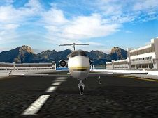 Airplane Simulation Island Travel