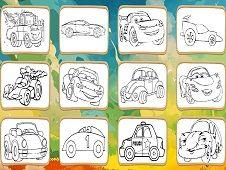Cartoon Cars Coloring