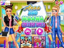 Anna and Moana College Girls