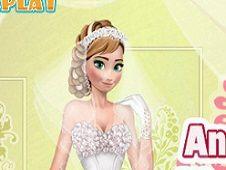 Anna Frozen Wedding Look