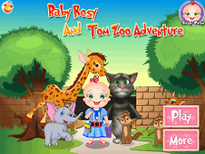 Baby Rosy And Tom Zoo Adventure