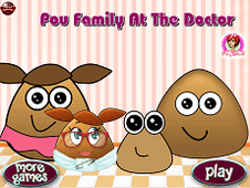 Pou Family At The Doctor