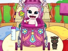 Baby Angela in Stroller