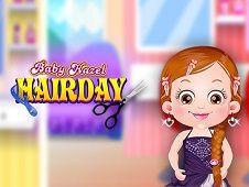 Baby Hazel Hair Day