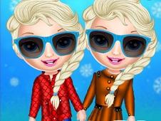 Baby Elsa Winter Shopping Spree