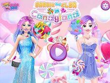Barbie and Elsa Candyland