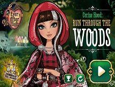 Cerise Hood Run Through the Woods