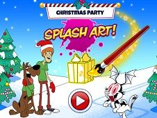 Christmas Party Splash Art