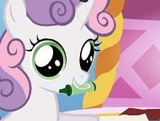 Coloring with Sweetie Belle