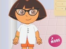 Dora Wearing Super Glasses