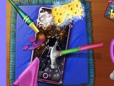 Dotted Girl Broken Phone