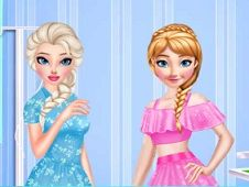 Elsa and Anna Unusual Day
