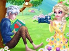 Elsa and Jack Frost Love First Encounter