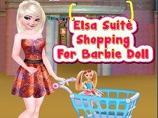 Elsa Suite Shopping for Barbie