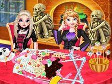 Frozen Sisters Halloween Food Cooking