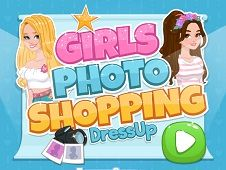 Girls Photoshopping Dress Up