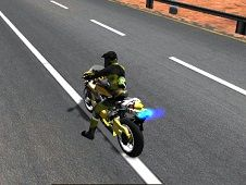 Highway Traffic Bike Stunt