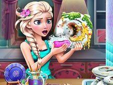 Ice Queen Dish Washing