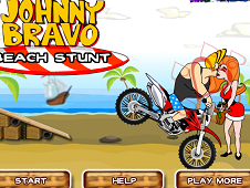Johnny Bravo Beach Stunts